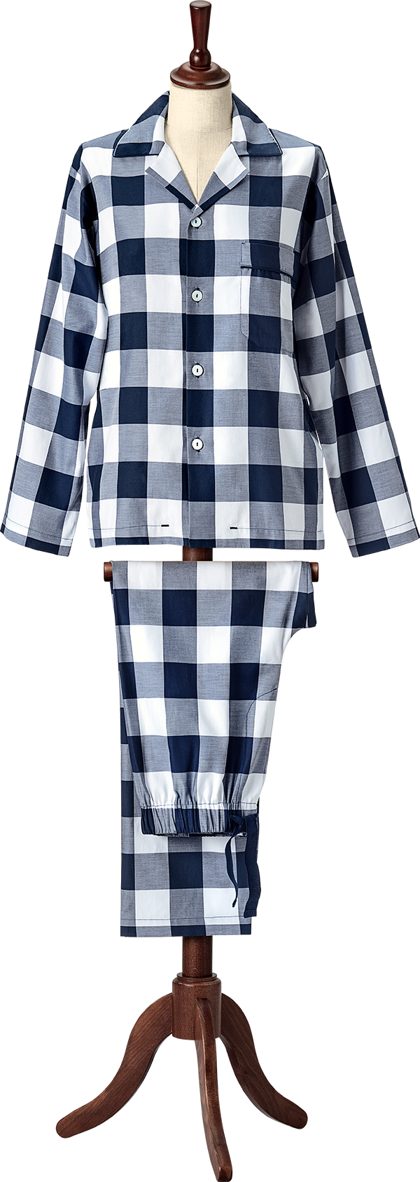 Hastens Hastens Blue Check Pajamas