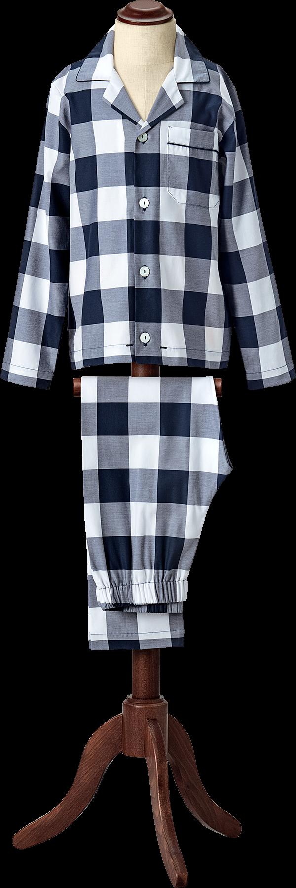 Hastens Hastens Blue Check Pajamas