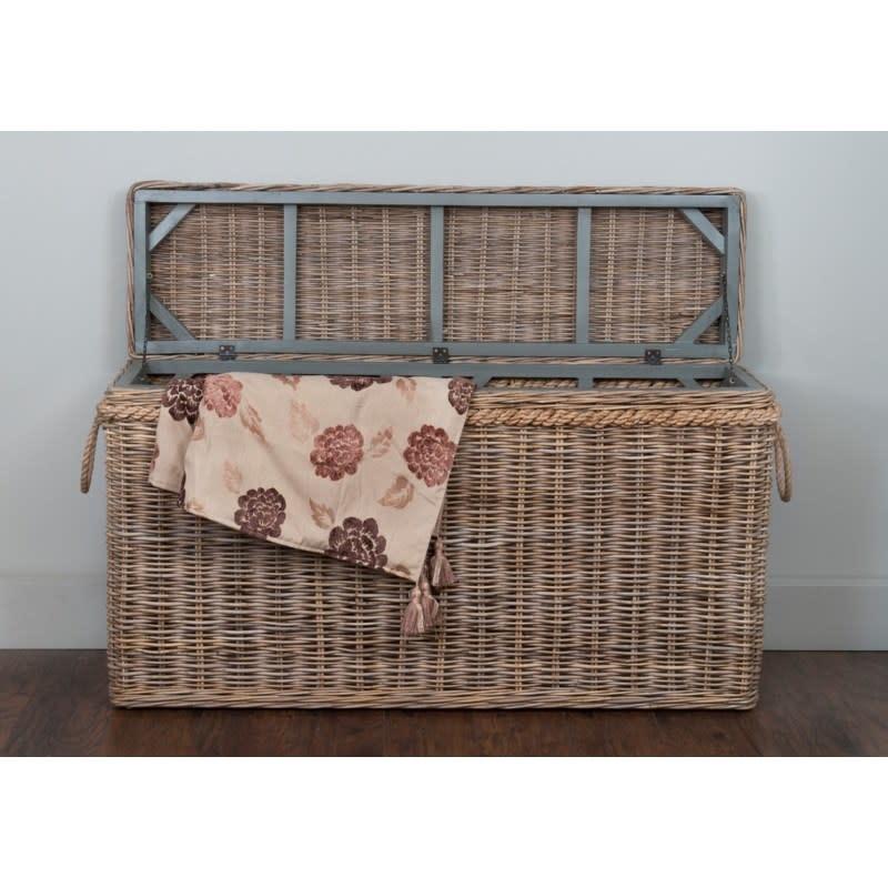Sabrina Console/Blanket Basket-Lg 55x16x30
