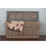 jeffan Sabrina Console/Blanket Basket-Med/43x10x24
