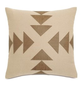 Accent Pillows Chalet Walden Tan w/Graphic Applique Pillow DPE-361-G 20 X 20