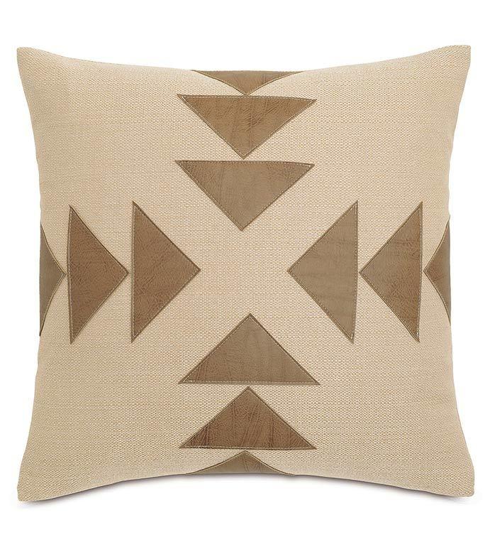 Accent Pillows Chalet Walden Tan w/Graphic Applique Pillow DPE-361-G 20 X 20