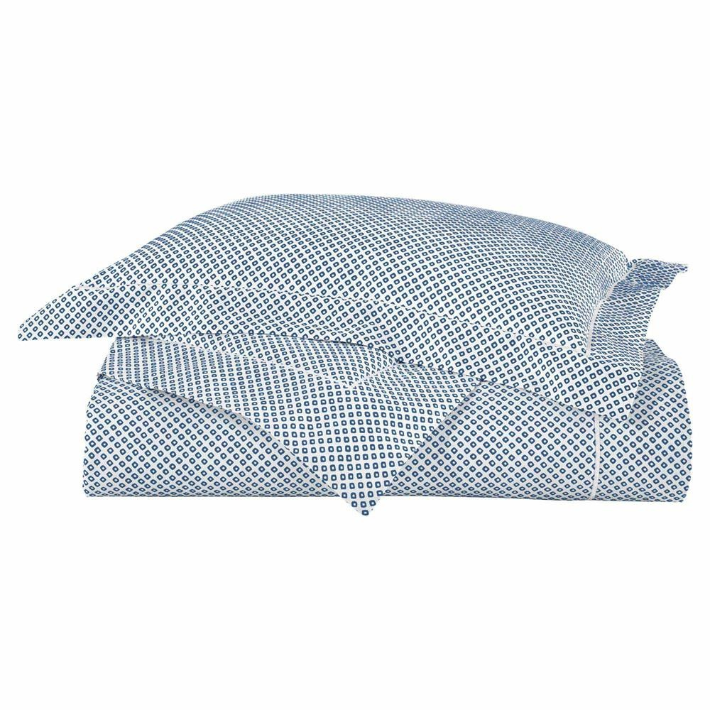 Peacock Alley Peacock Alley Bedding-Emma/Geometric Blue Twin Duvet 68x90
