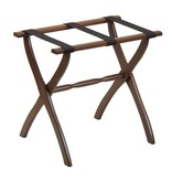 Gate House Furniture Wood Luggage Rack- Contour Leg