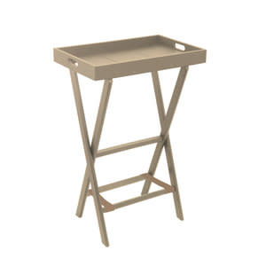 Gate House Furniture Eco High Portable Table w/Rectagle Serving Tray
