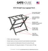 Gate House Furniture Eco -  straight leg luggage rack