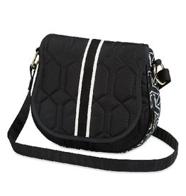 cinda b Saddle Bag-Jet Set Black