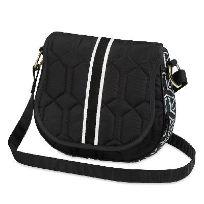 cinda b Saddle Bag-Jet Set Black