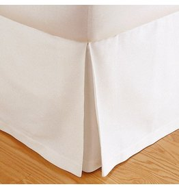"Matouk Matouk Bedskirt Box Pleat Pique 14 1/2"" Drop"