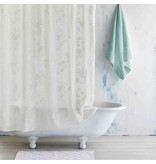 Pasak Embroidered Linen Shower Curtain