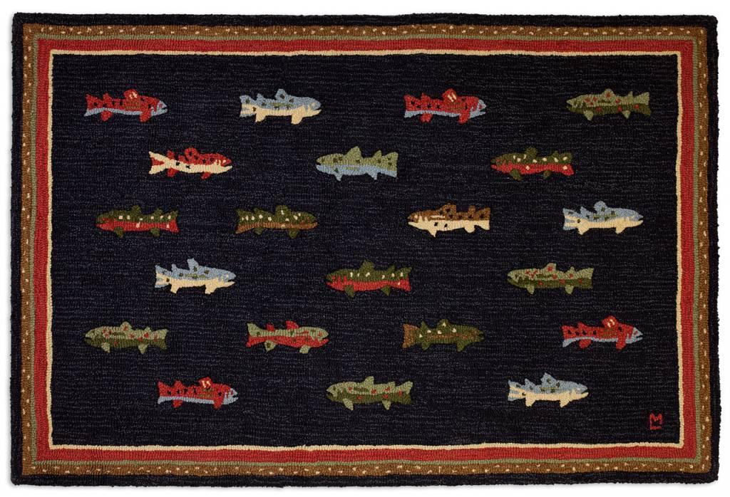 River Fish Rug