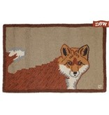 Red Fox Rug- 2x3 Hooked Wool