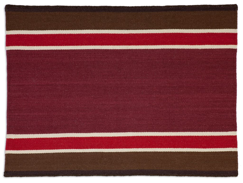 Western Red or Blue Rug Flatweave