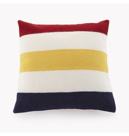 Faribault Woolen Mills Co. Revival Stripe Wool 20 x 20 Pillow - with insert
