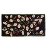 Bayberry Pinecones Hooked Rug