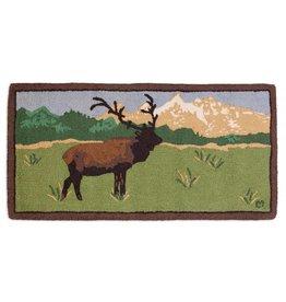 Elk in The Tetons Rug  2x4