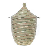 Silver Swirl Large Laundry Hamper