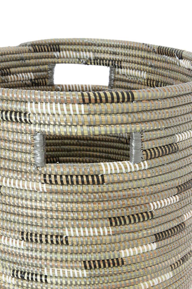 Silver Swirl-Flat lid Storage Basket