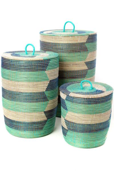 Blue Sahara Hamper Baskets