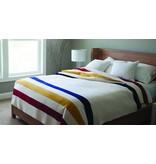 Faribault Woolen Mills Co. Wool Blanket-Revival Stripe/85%Merino/15% Cotton