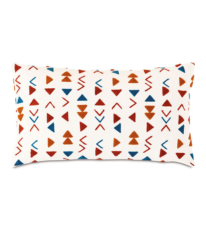 Mackay Embroidered Decorative Accent Pillow