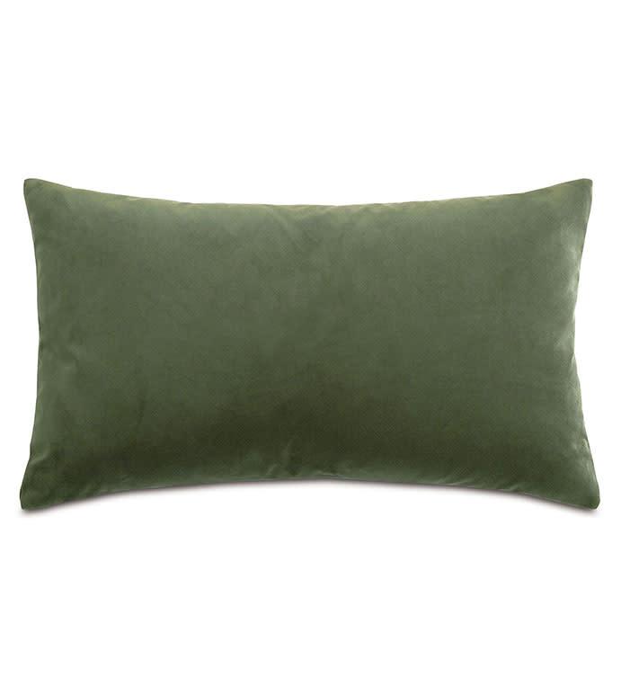Uma Velvet Decorative Pillow-Olive