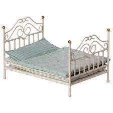 Maileg Vintage Bed, Micro- Off White