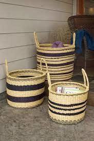 Striped Elephant Basket