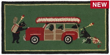 Woody Wagon Bears Rug