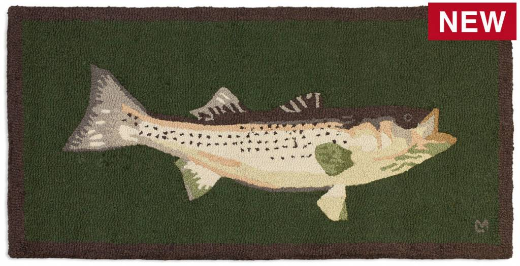 Bass Mount Rug-2' x 4' Green