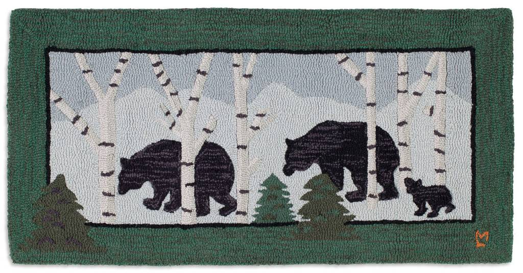 3 Bears In Birch Woods