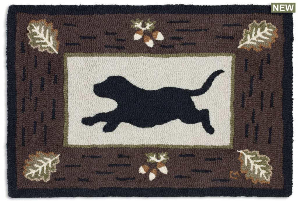 Lab On Leaves Rug-2' x 3'