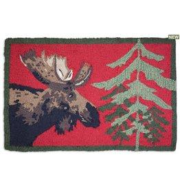 Moose Pine Rug 2' x 3'