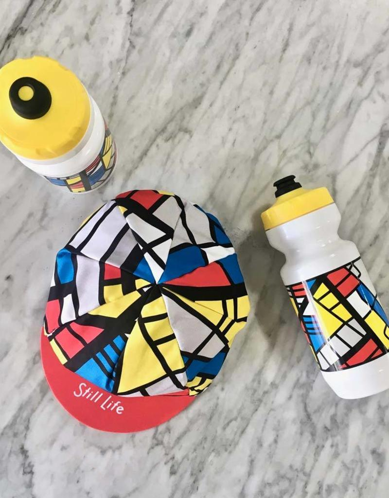 "Dash Bicycle Dash x Still Life ""Mondrian Map"" four panel cycling cap"
