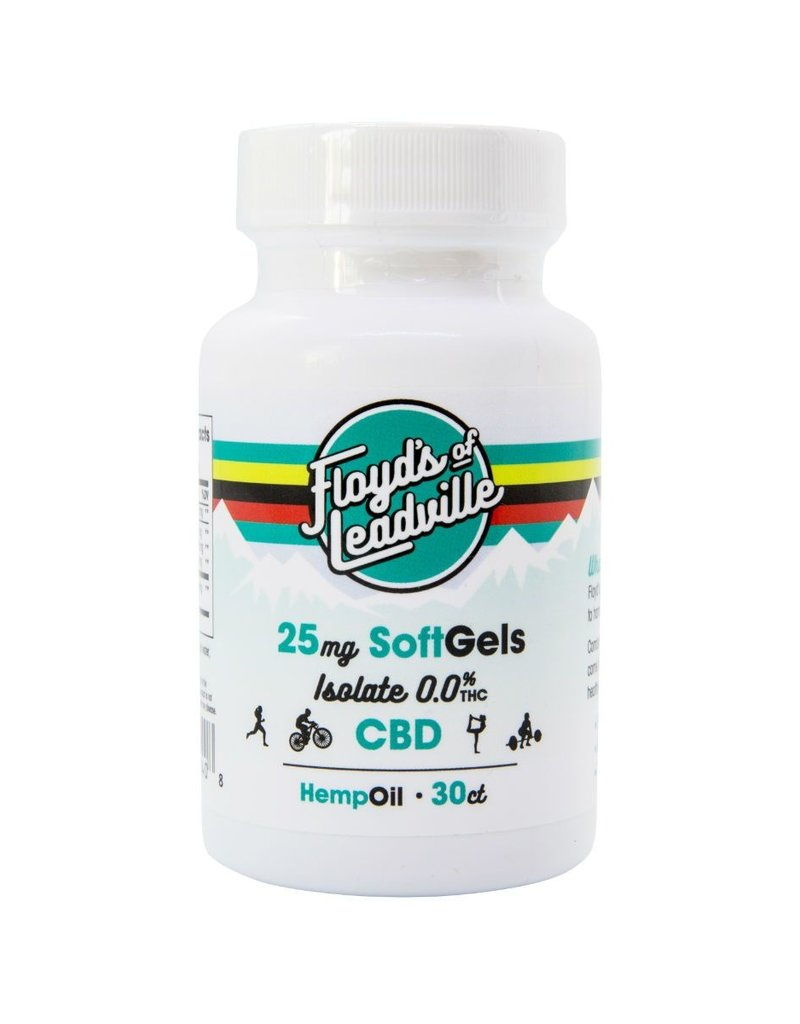 Floyd's of Leadville Floyd's of Leadville CBD Softgel: THC Free Isolate 25mg (30 gels)