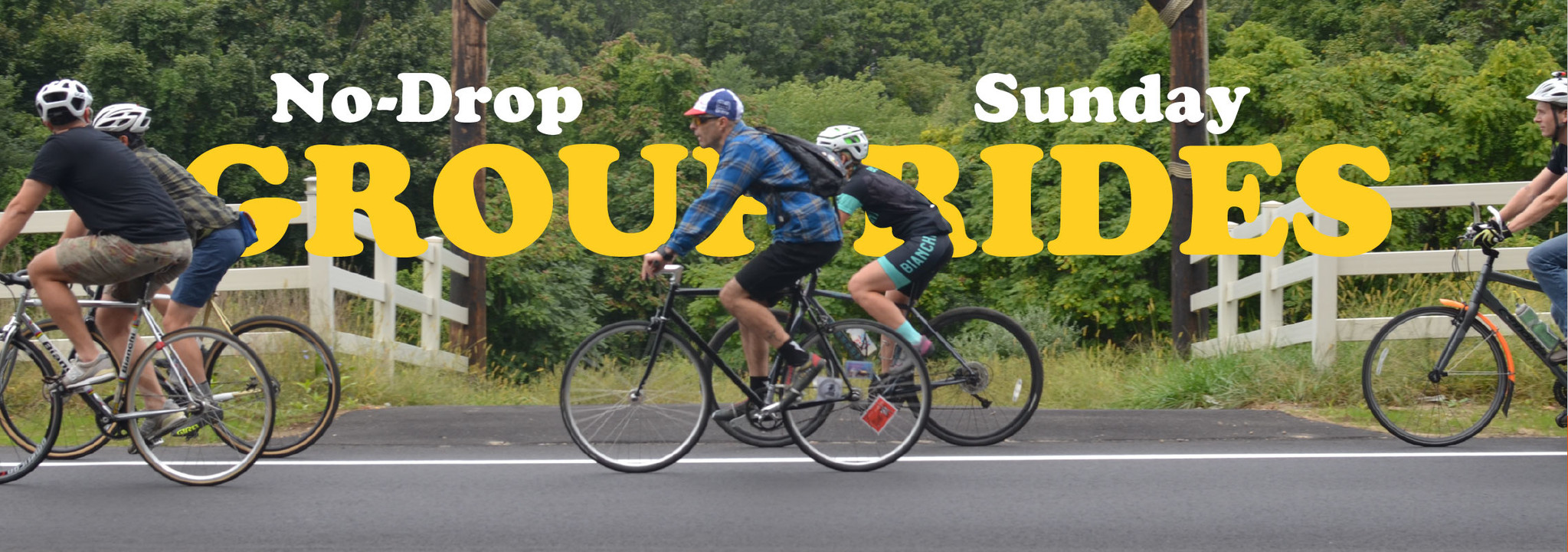 Join us for conversational-pace group rides Sunday afternoons