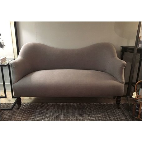 Dromedary Loveseat in Brevard Pewter by John Derian for Cisco Brothers