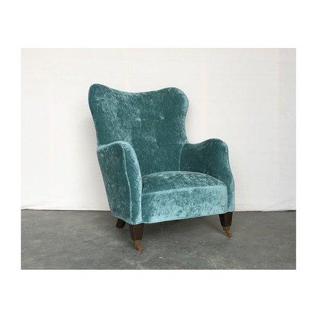 Romi Mini Chair Velluto Aqua by Cisco Brothers