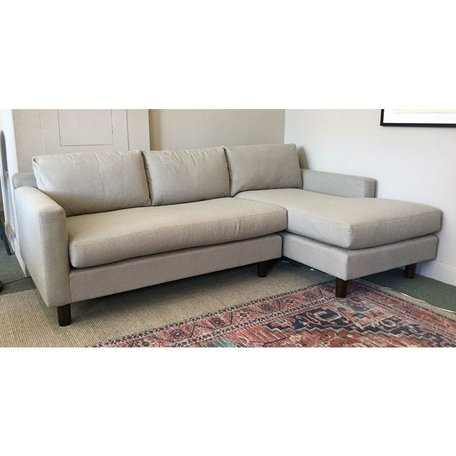 Hunter Studio Sectional w/ Bench Seat in Ridely Pewter by MGBW