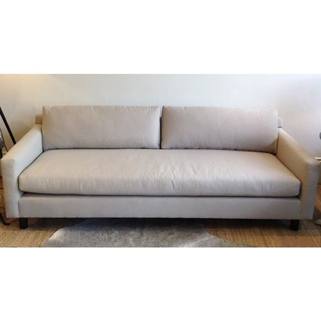"Hunter 90"" Sofa in Ridley Pewter W/Bench Seat and No Welt by MGBW"