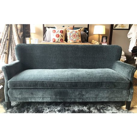 Pippa Apartment Sofa In Everett Lagoon w/ Tack Trim Around Outside Back by Lee Industries