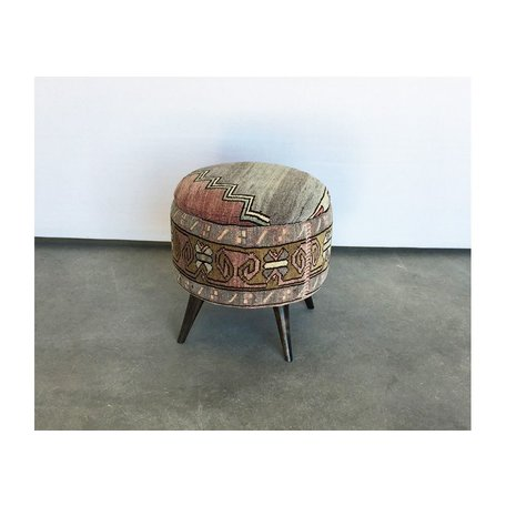 Small Antique Turkish Ottoman 50018-D