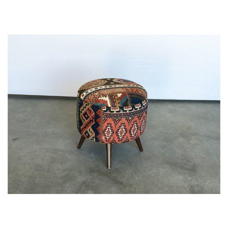 Small Antique Turkish Rug Ottoman 50018-I