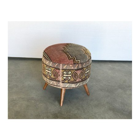 Small Antique Turkish Rug Ottoman 50018-M