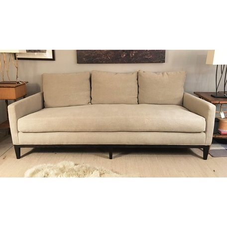 Leonard Sofa 1399-03 in Kitts Flax w/ Bench Seat and Haven Package by Lee Industries