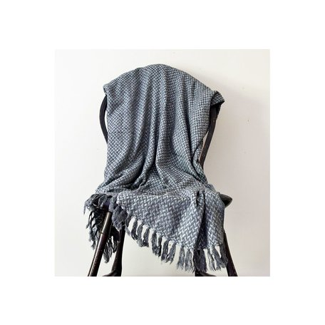 Chunky Cashmere Throw in Charcoal