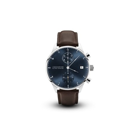 1815 Chronograph Watch in Steel/Blue Sunray by About Vintage