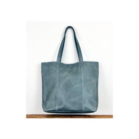 Sosi Leather Artisan Bag in Grey