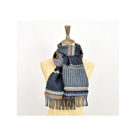 Wallace#Sewell Merino Lambswool Diffusion Scarf in Dark Pick 'n' Mix