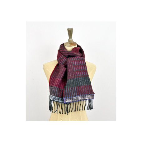 Wallace#Sewell Merino Lambswool Diffusion Scarf in Red